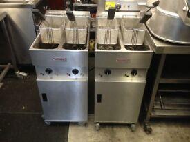 CATERING COMMERCIAL VALENTINE TWIN TANK FRYER CUISINE CAFE SHOP COMMERCIAL KITCHEN CAFE SHOP BBQ BAR