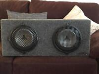 JL Audio 10 inch Subwoofers and custom box vibe 1200w amp