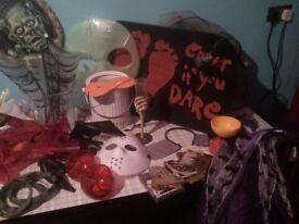 horror job lot masks, wall hangings, coasters, party pieces, decorations JOB LOT (NG5)