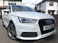 Audi A1 S-line TFSI 1.4 S Tronic 3DR 2015 metallic white