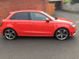 Rare 5 door Red Audi A1 Black Edition, perfect condition