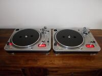 ION ITTO3X DIRECT DRIVE TURNTABLES+CARTS SAME AS NUMARK TT/STOCK CLEARANCE UK DELIVERY