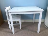 IKEA kids table and a chair