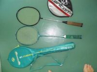 Carlton Badminton Rackets Used but not bad condition in their covers with angrips in tact