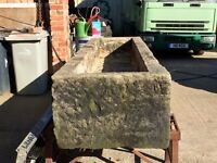 Large granite reclaimed stone troughs