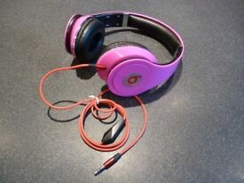 Pink Earphones Very Good Condition Folding Headphones Stunning Colour