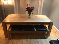 Solid Wood Dining Table With Seating