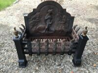 Cast Iron Fire Grate And Back Plate