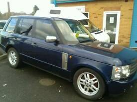 Range Rover L322 td6 breaking for parts, Blue, 04 we ship world wide.
