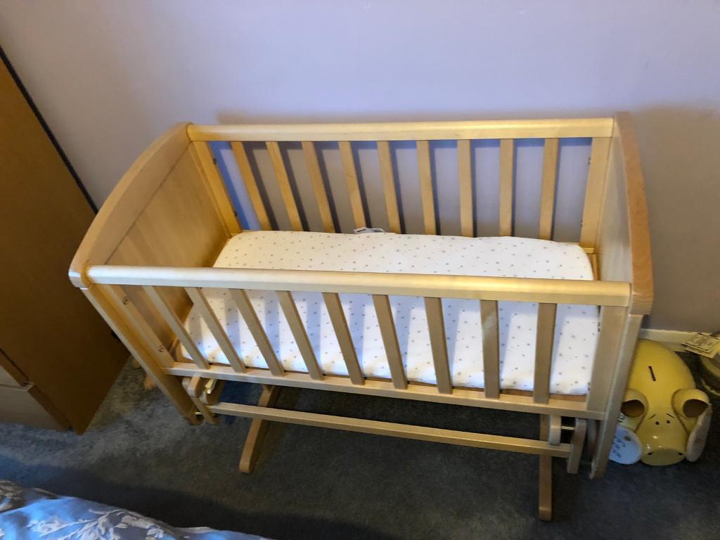 Crib, John Lewis Mattress.