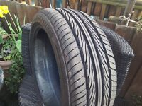 Two v nearly new Mazzini tyres for sale