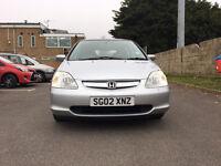 Honda Civic 1.6 i-VTEC SE Hatchback 5dr£995 p/x welcome 1 owner from new 2002 (02 reg), Hatchback