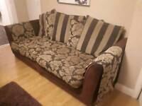 Sofa and cuddle chair £40! Must go asap