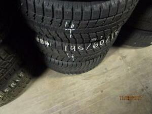 195/60R15 2 ONLY USED TOYO WINTER TIRES