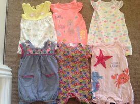 Baby girl 3-6m clothes bundle
