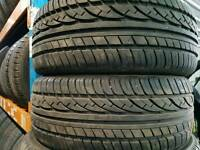 FREE FITTING 2 X MOWHAWK 205 45 16 TYRES 7MM MATCHING PAIR