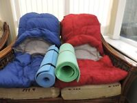 2 sleeping bags and under mats
