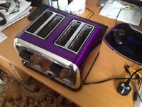 Spectrum 4 Slice Toaster Purple
