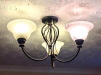 Pair of ceiling light fittings