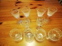 Stuart Crystal cut glass drinking glasses
