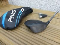 Ping G SF TEC 10° Driver with headcover and adjustment tool. Ping Tour Stiff 65 Shaft. New grip
