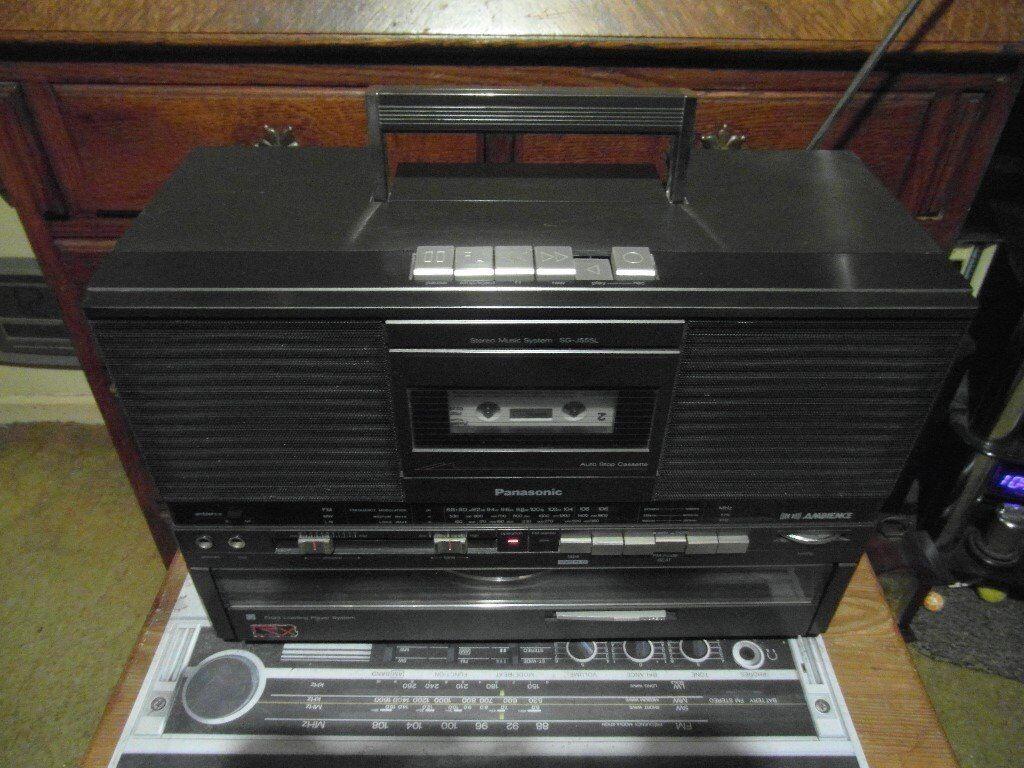 1980s - PANASONIC - SG-J555L - STEREO - SYSTEM - BOOM BOX / GHETTO BLASTER Radio/Tape/Record Player