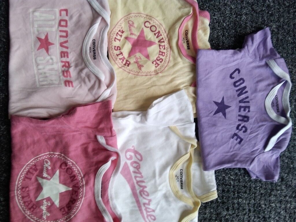 baby girl vests x5 converse 6 months