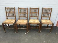 Set of 4 Royal Oak chairs (delivery available)