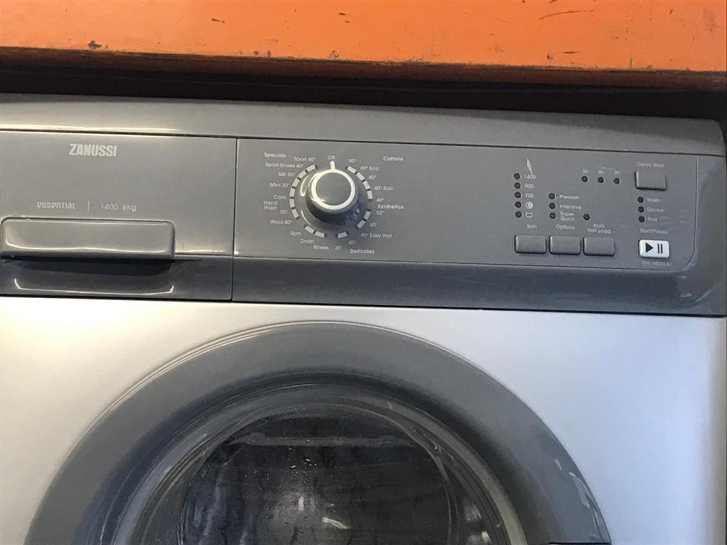 Zanussi silver Washing machine