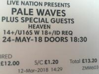 2x Pale Wave Tickets 24th May (heaven)