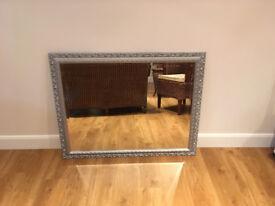Wall Mirror with silver effect frame 115cm (w) x 89cm(h)