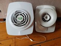 Envirovent Filterless Extractor Fan with window fixing kit (used)