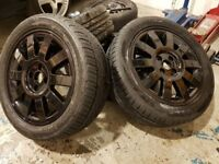 """Renault Clio Alloy Wheels 16"""" With Tyres Fully Refurbished And Powder Coated"""