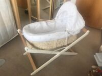 Mothercare Moses basket with stand excellent condition