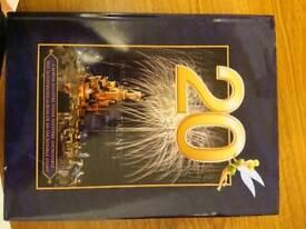 20th anniversary rare disneyland paris hardback book