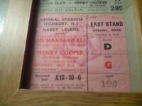 Muhammad ali vs henry cooper ticket £150 cash