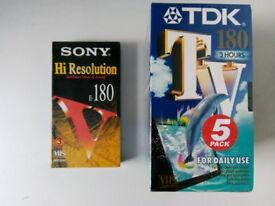 Blank VHS Tapes - brand new in original wrapping