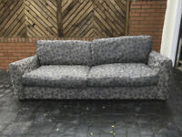 Sofa - John Lewis - grey/brown 4 seater excellent condition