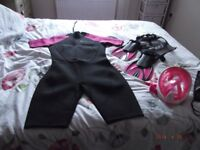 Brand new,shortie wetsuit size 18,flippers 5/6 and snorkel,all new, will split items