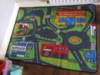 Kids car rug childrens road rug