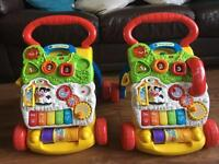 X2 vtech first steps baby walkers