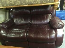 2 seat leather recliner