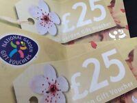 Gift vouchers for any national garden centre