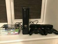 Xbox 360 250Gb w Kinect + 5 games