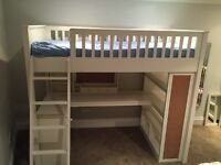 High Loft Bed with Desk/Chair