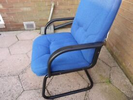 Blue office chair not used got receipt £85