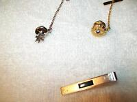 TIE BAR  &  TIE TACKS
