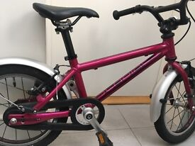 Islabike Cnoc 14 Pink with mudguards Age 3+ (collection only)