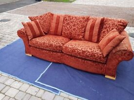 Excellent Condition . 2 large sofas & footstool. Iike new from Glasswells. Genuine reason for sale.
