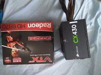 Amd Radeon HD 6670 2GB, Corsair CX 430 Power Supply